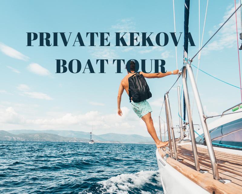 private kekova boat hire